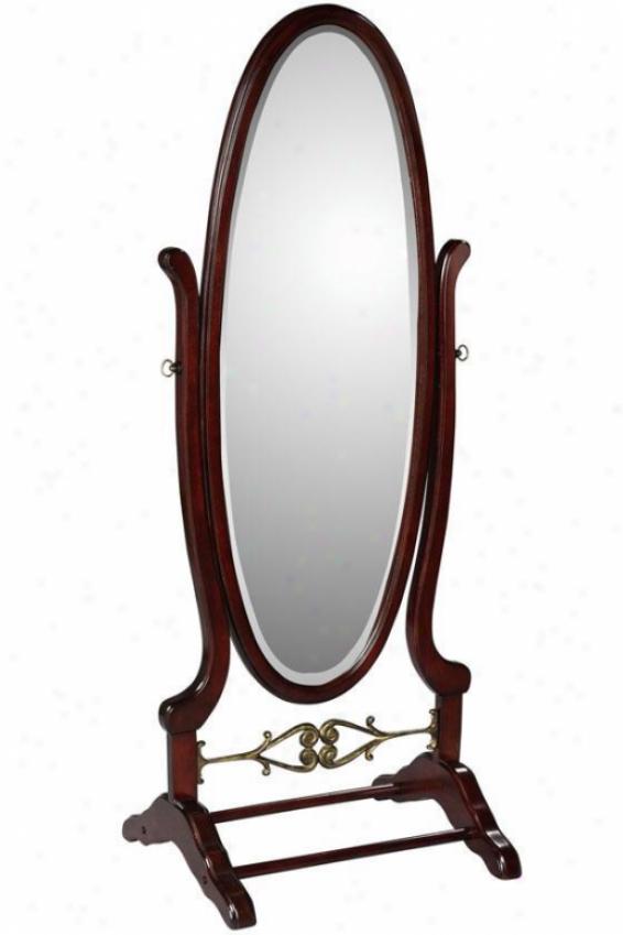 """""""heirloom Chevzl Mirror - 63""""""""hx25.25""""""""w, Brick Red"""""""