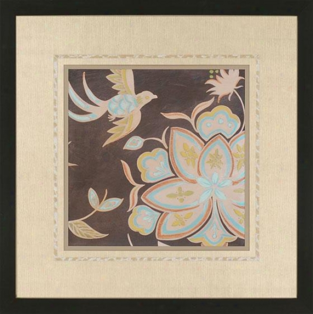 Heirloom Floral Wall Art I-  Ii, Brown