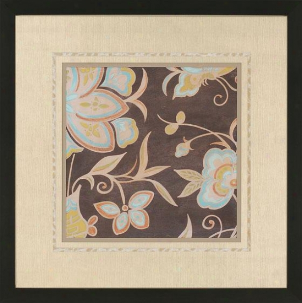 Heirloom Floral Wall Art Ii - I, Brown