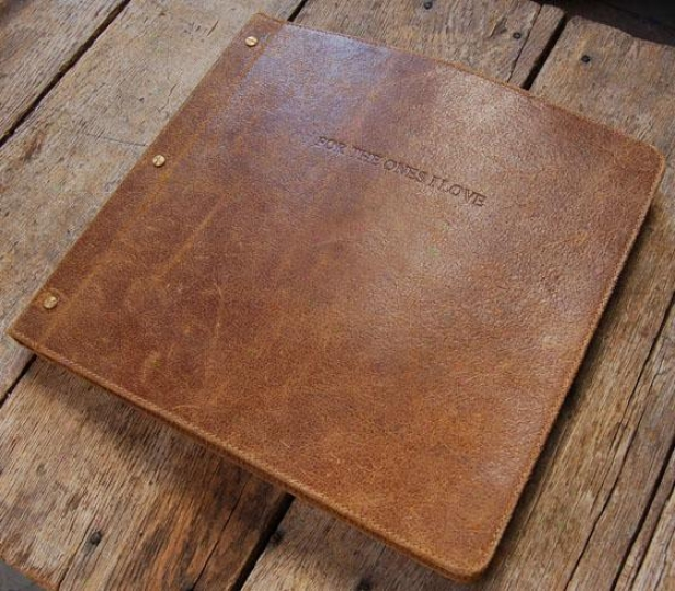 """heirloom Photo Album - 13 X 13"""", Brown"""