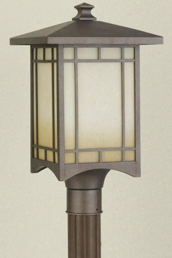 """heritage Outdoor Lamp Post - 19""""h X 10.5""""w, Bronze"""
