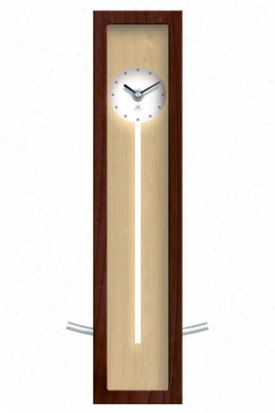 """high Rise Natural Clock - 16.5""""hx6""""w, Walnut Wood"""