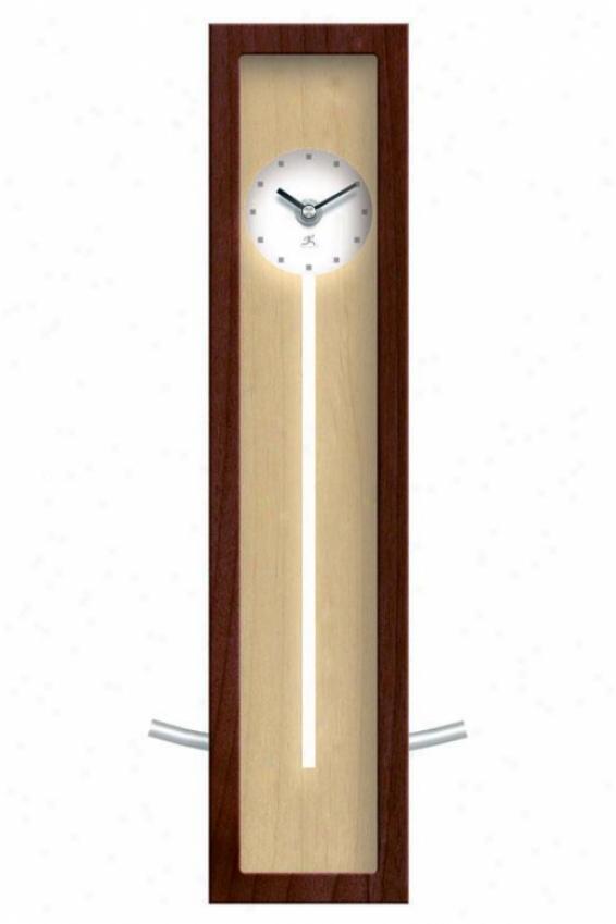 """high Rise Natural Clock - 16.5""""hx6""""w, Walnut Wood"""