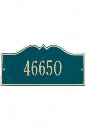 Hillsboro One-line Petite Wall Address Plaque - Petite/one Line, Navy Blue