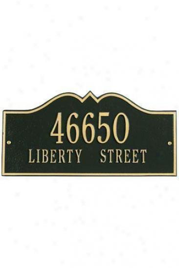 Hillsboro Two-line Standard Wall Address Plaque - Standard/2 Line, Black