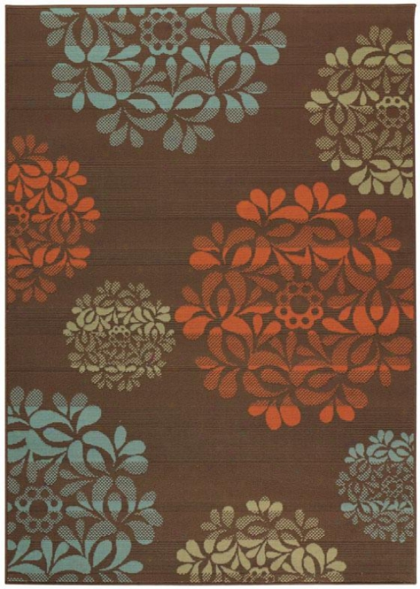"""hilo Ii Area Rug - 6'7""""x9'6"""", Brown"""