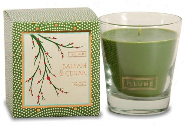 Holiday Demi-glass Candle - Demiglass Cndl, Balsam & Cedar