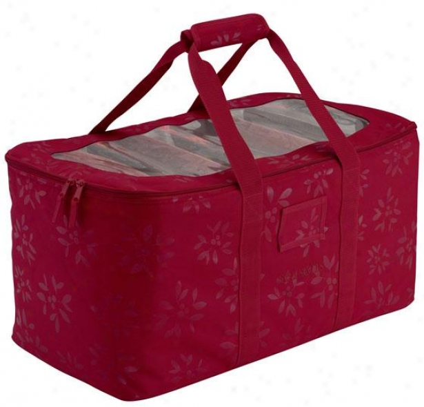 """holiday Lights Storage Duffel - 12""""hx12""""w, Crimson Red"""