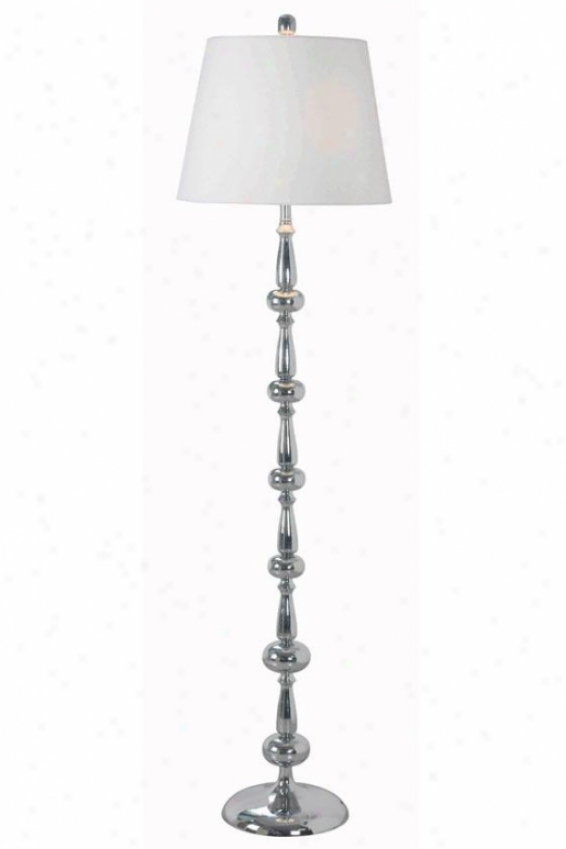 """holland Floor Lamp - 58""""h, Silver Chrome"""