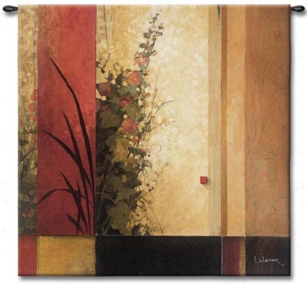 Hollyhock Garden Ii Tapestry - Medium, Multi