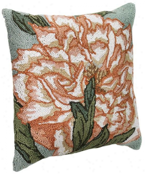 """hooked Floral Throw Pillow - 18"""" Square, Ibo5y"""