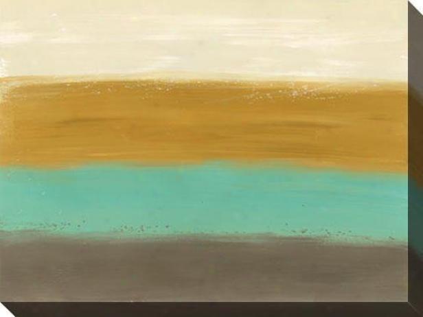 Horizom Lines Ii Canvas Wall Att - Ii, Earthtones