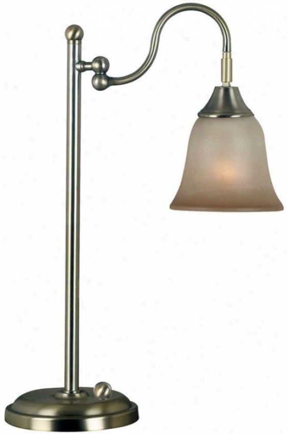 Horton Desk Lamp - Cream Scavo Gls, Vintage Brass