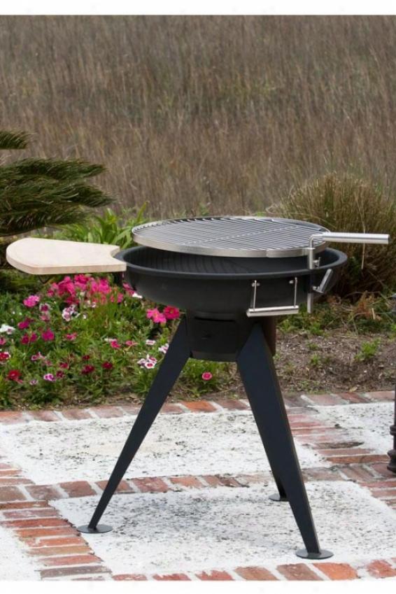 Hotspot Terrsce 600 Charcoal Grill - 45.31hx25.22wx, Black