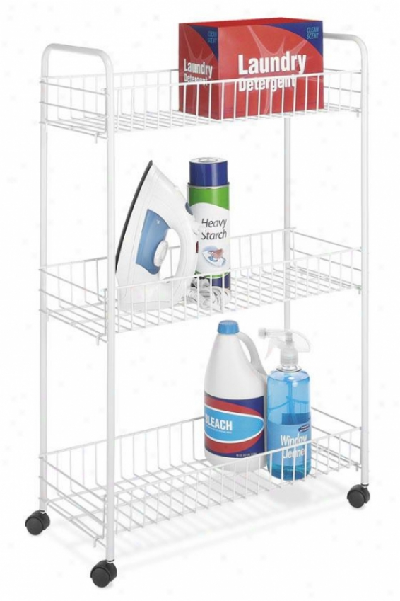 """household Cart - Slim 33""""hx22""""w, White"""