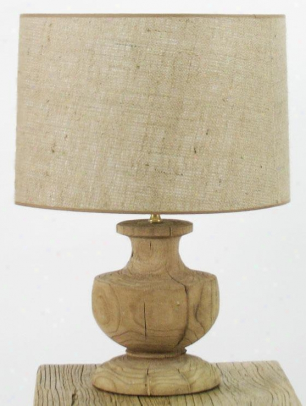 Hudson Table Lamp Ii - 19hx18.5wx18.5d, Ivory