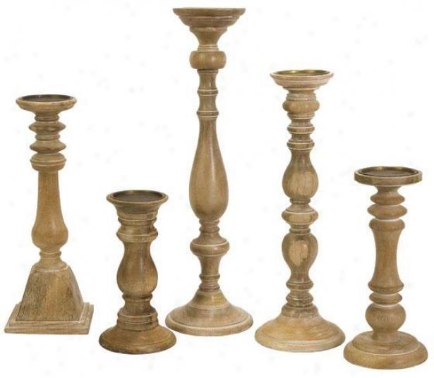 Chase Candleholders - Set Of 5 - Set O f5, Ivory