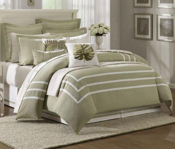 Huntington Ii Point Comforter Set - Queen 9pc Set, Sage