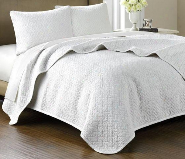 Huntington Ii Point Coverlet Set - King 3pc Set, Beige