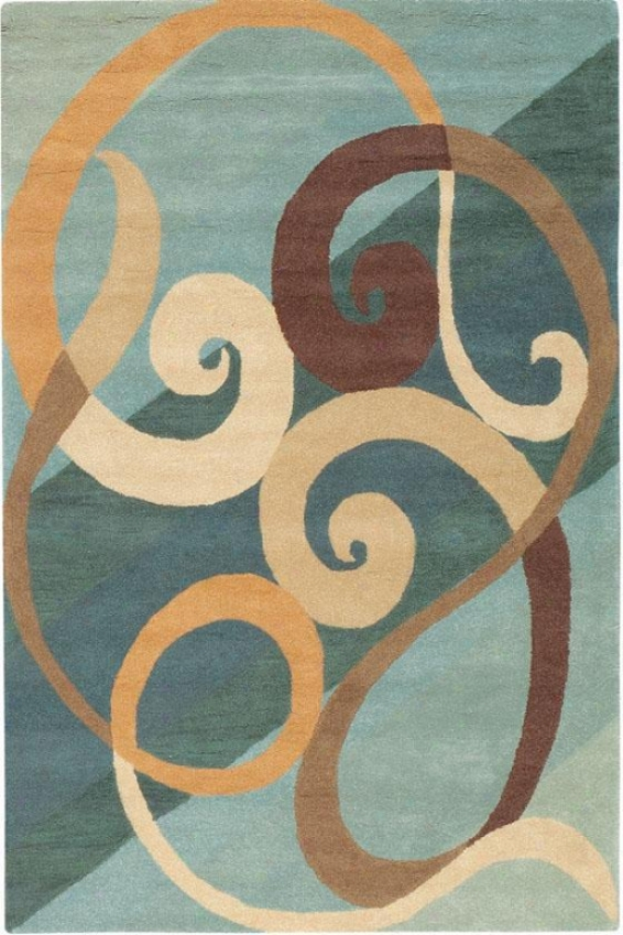 """hypnotic Area Rug - 2'6""""x4'6"""", Blue"""