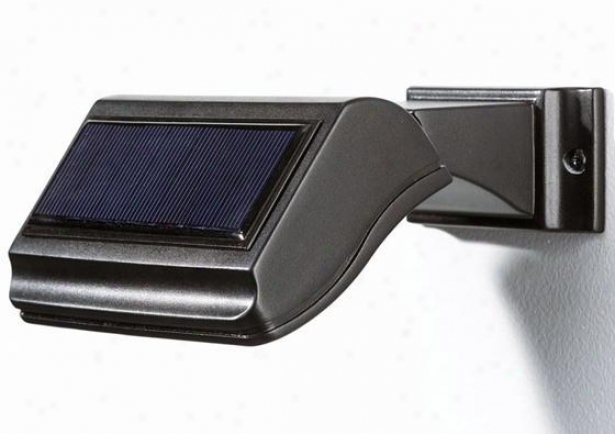 """illuminator Solar Address Lamp - 6.75""""h, Black"""