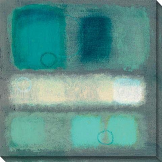 Illusion I Canvas Wall Art - I, Blue