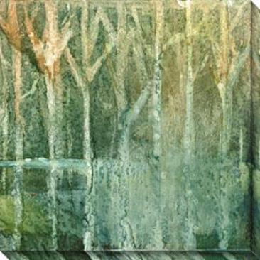Imposed Environment Iii Canvas Wall Art - Iii, Green
