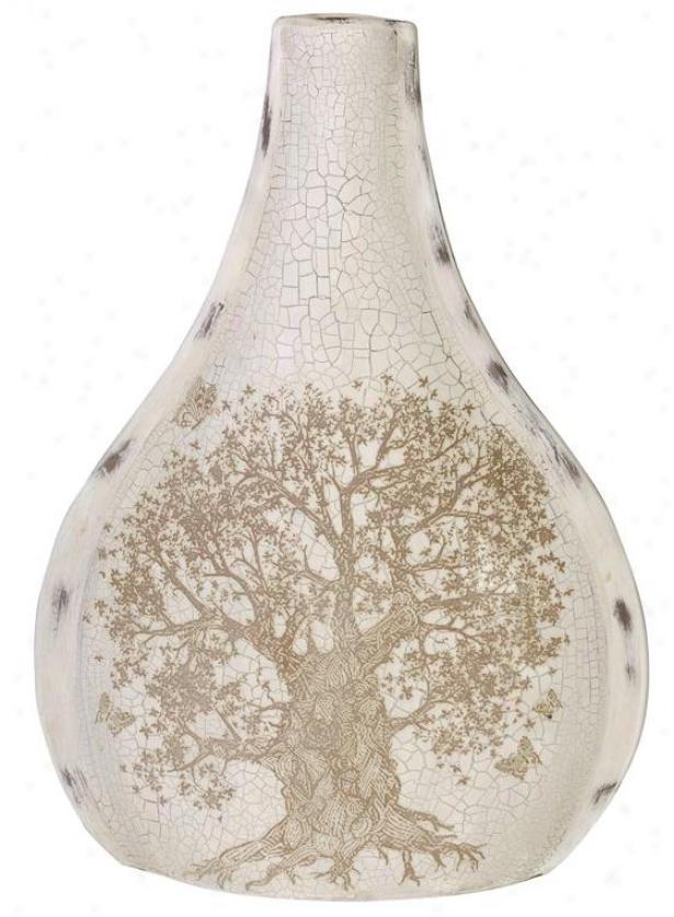 """""""impressions 21.5""""""""b Vase - Large 15x21.5""""""""h, Ivory"""""""