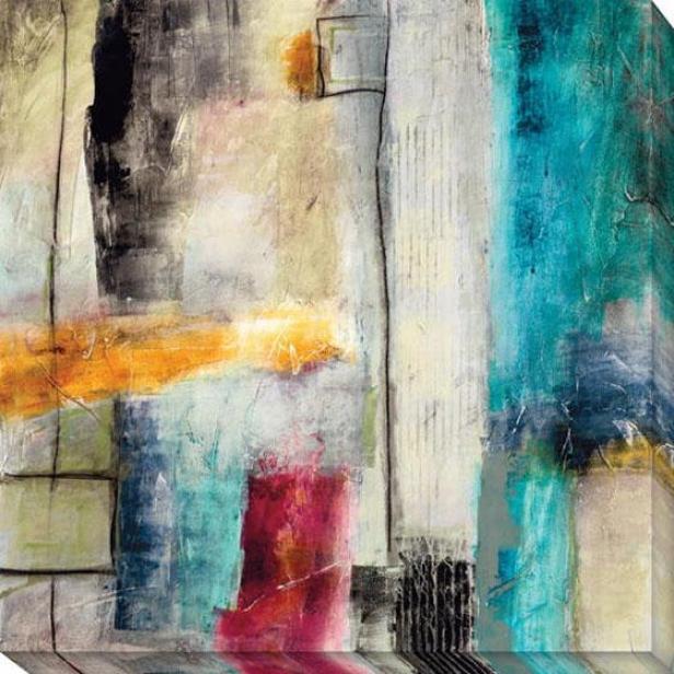 Impulse I Canvas Wall Art - I, White