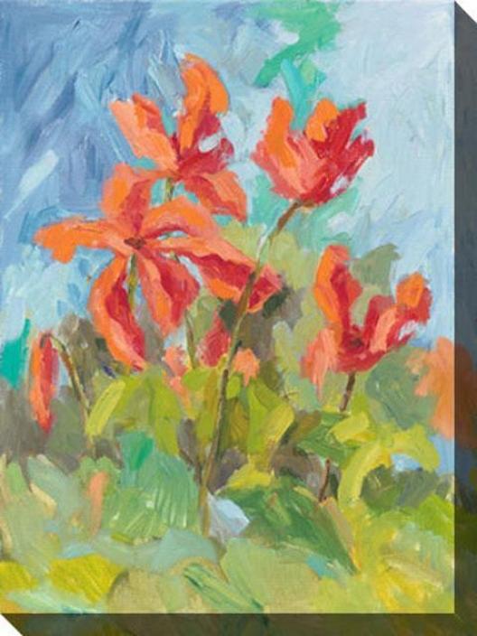 In Bloom Ii Canvas Wall Art - Ii, Blue