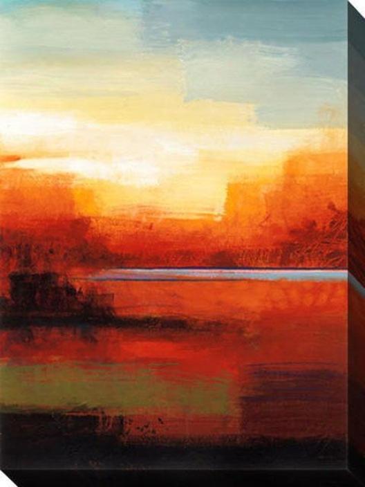 In The Canyon I Canvas Wall Art - I, Orange