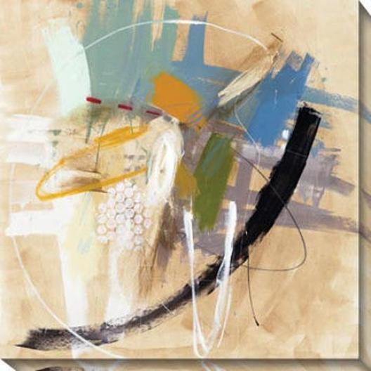 Incredible Fade V Canvas Wall Art - V, Beige