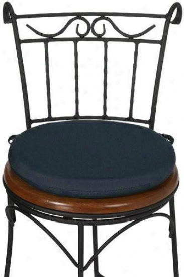"""indoor Outdoor 15""""d Round Seat Cushion - 1.5""""hx15""""d, Denim Outdura"""