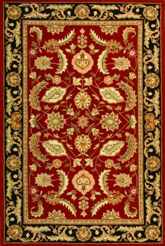 Indu Area Rug - 3'x5', Red
