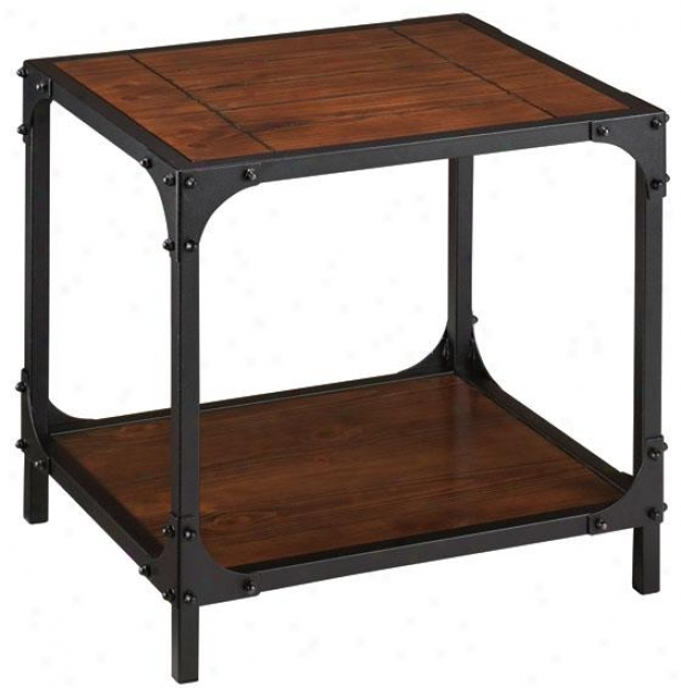 """""""industrial Empire Side End Table - 22""""""""hx25""""""""wx21""""""""d, Negro"""""""