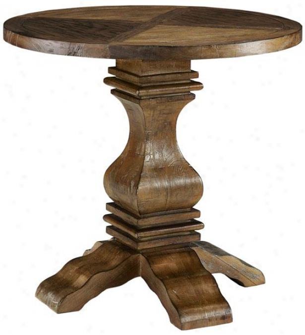 """""""industrial Masion Accent Side Table - 31""""""""x32"""""""", Reclaimed"""""""