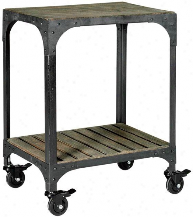 """""""industry Accent Side Table - 22""""""""x15"""""""", Grey-ntrl/zinc"""""""
