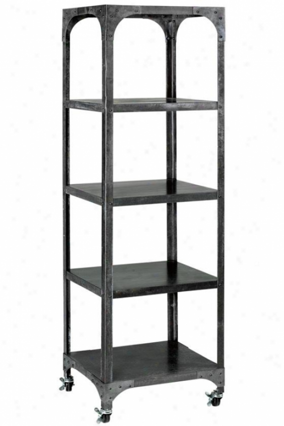 """industry Bookshelf - 17""""x14.5"""", Grey/zinc"""