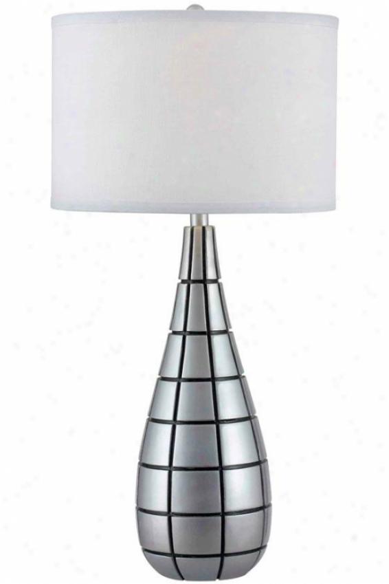 """inga Table Lamp - 31""""hx15""""d, Silvre Leaf"""