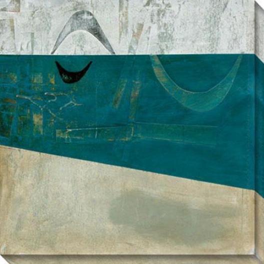 Inquisitibe Response Ii Canvas Wall Art - Ii, Blue