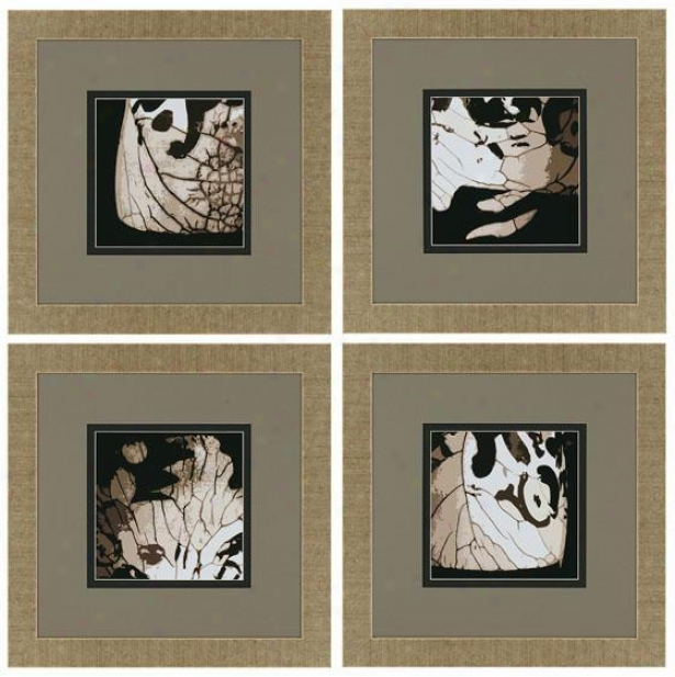 """insight Wall Art - Set Of 4 - 22""""hx22""""w, Gray"""