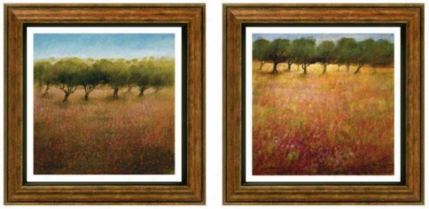 Inspirational Orchard Framed Wall Art - Set Of 2 - Set Of Two, Earthtones