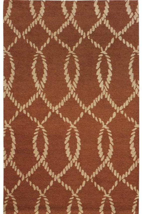 """intertwine Ii Area Rug - 5'3""""x8'3"""", Coral"""