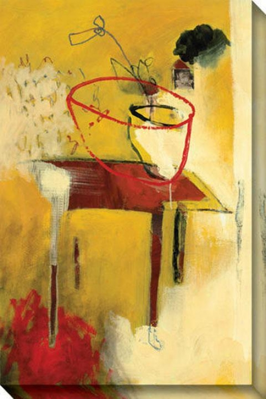 Immediate perception I Canvas Wall Art - I, Beige