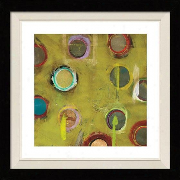 Invention In Green I Framed Wall Art - I, Floated Black