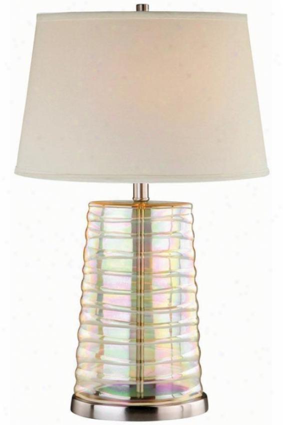 """iridescence Twble Lamp - 1""6""x25.75"""", Iridescent"""