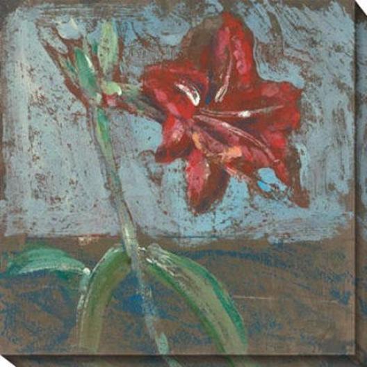 """""""Flower-de-luce Canvas Wall Art - 40""""""""hx40""""""""w, Blue"""""""