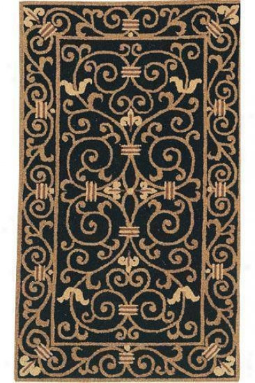 """irongate Superficial contents Rug - 2'6""""x8' Runner, Blwck"""