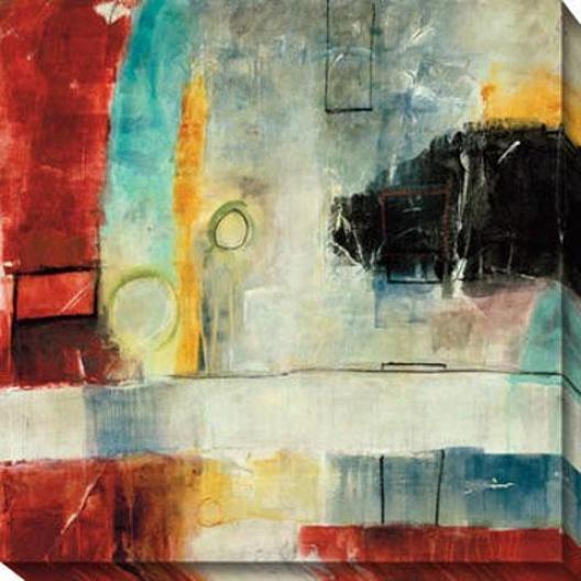 Irrational Response I Canvaq Wall Art - I, Red