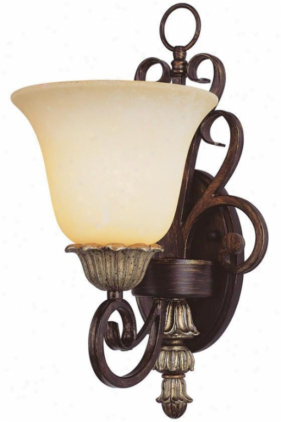 Isabelle Wall Sconce - One Lignt, Ebony Gold